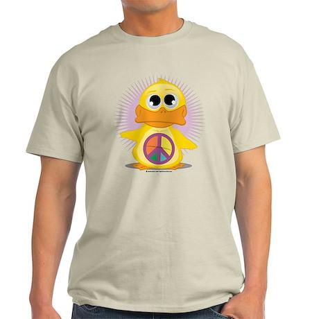 Peace Sign Duck Light T-Shirt