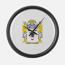 Spitteler Family Crest - Coat of Large Wall Clock