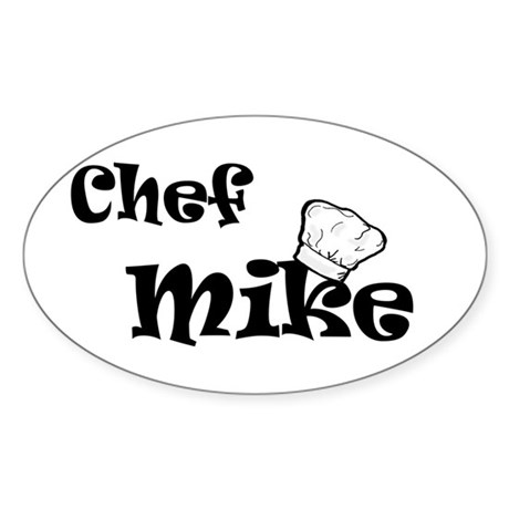 Chef Mike Sticker (Oval)