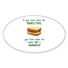 Cute Sandwich Decal
