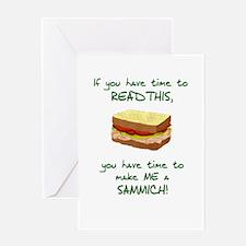 Cute Make me a sandwich Greeting Card