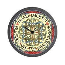 Blessed Are the Peacemakers Wall Clock