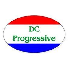 Washington, D.C. Progressive Oval Decal
