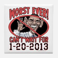 Worst Ever President Tile Coaster