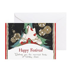 Snowy Country House Festivus Card (Pk of 10)
