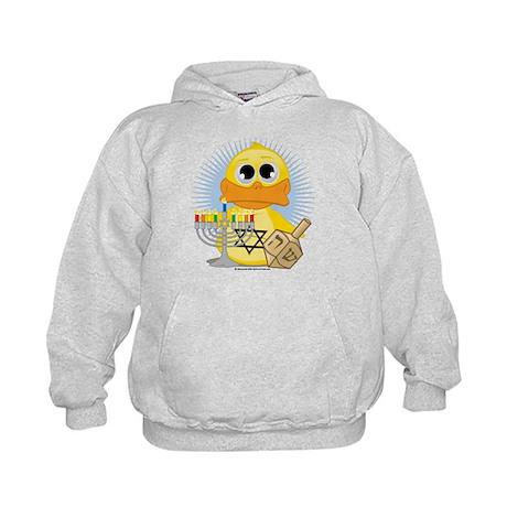 Hanukkah Duck Kids Hoodie