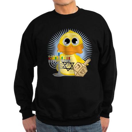 Hanukkah Duck Sweatshirt (dark)