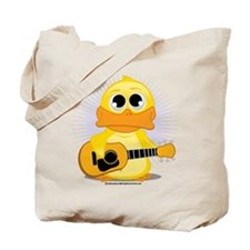 Acoustic Guitar Duck Tote Bag