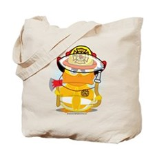Firefighter Duck Tote Bag