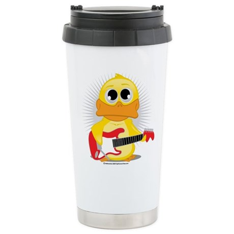 Electric Guitar Duck Stainless Steel Travel Mug