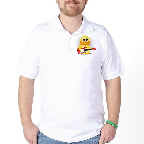 Electric Guitar Duck Golf Shirt