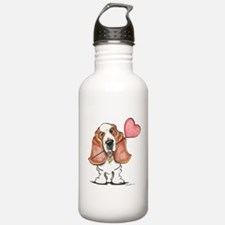 Basset Heart Balloon Water Bottle