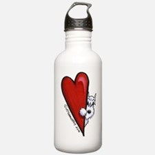 White Schnauzer Lover Water Bottle
