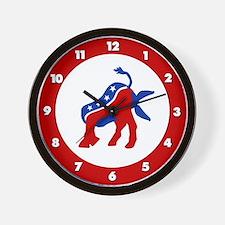 DemocRat Head Plant Wall Clock