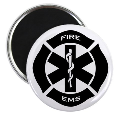 """Fire and EMS 2.25"""" Magnet (100 pack)"""