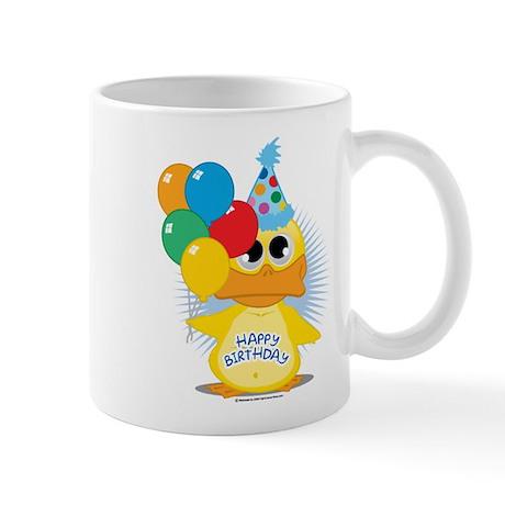 Happy Birthday Duck Mug