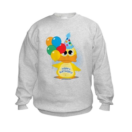 Happy Birthday Duck Kids Sweatshirt