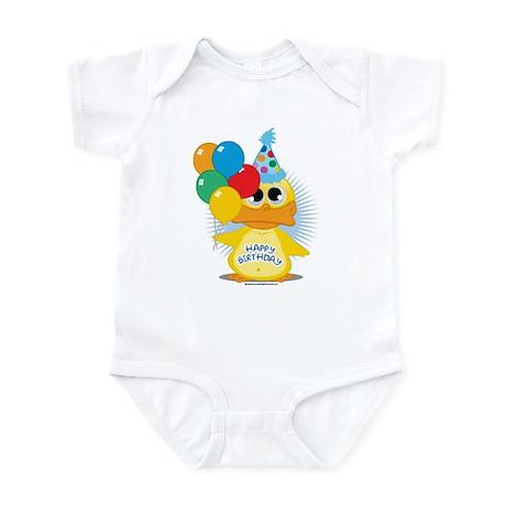 Happy Birthday Duck Infant Bodysuit