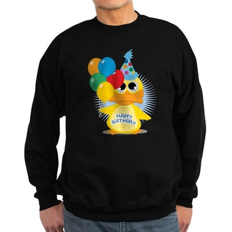 Happy Birthday Duck Sweatshirt (dark)