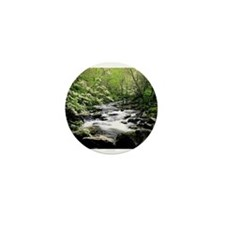 Smokey Mountain Water Falls Mini Button