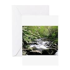 Smokey Mountain Water Falls Greeting Card