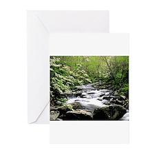 Smokey Mountain Water Falls Greeting Cards (Pk of