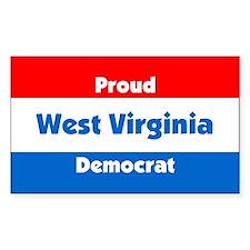 Proud West Virginia Democrat Rectangle Decal
