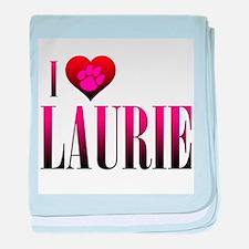 I Heart Laurie Infant Blanket