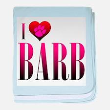 I Heart Barb Infant Blanket