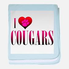 I Heart Cougars Infant Blanket