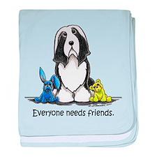 Beardie Needs Friends baby blanket