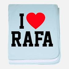 I Love Rafa baby blanket