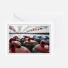 Curling Club Stones Greeting Cards (Pk of 10)