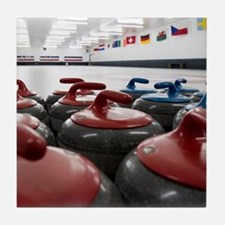 Curling Club Stones Tile Coaster