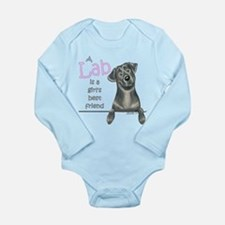 Black Lab BF Long Sleeve Infant Bodysuit