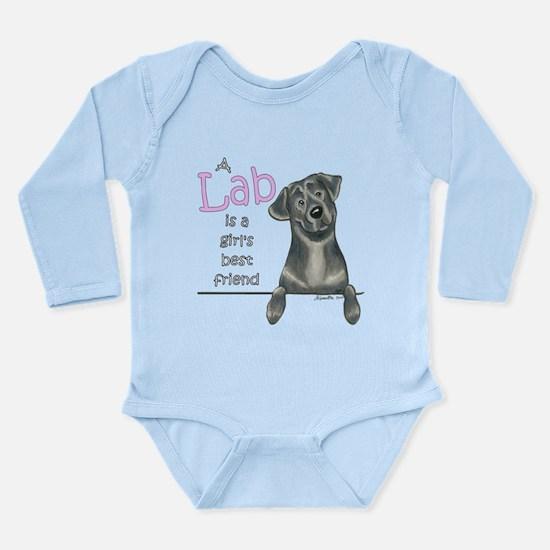 Black Lab BF Long Sleeve Infant Bodysuit