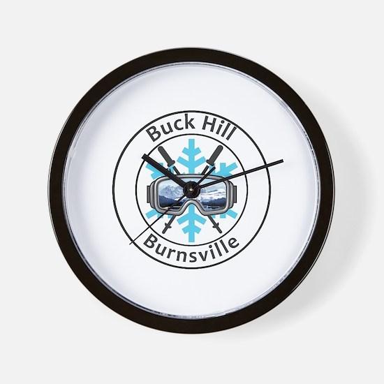 Cute Buck mountain Wall Clock