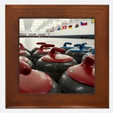 Curling Club Stones Framed Tile