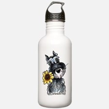 Sunflower Schnauzer Water Bottle