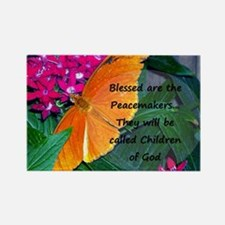 Peacemaker Butterfly Rectangle Magnet