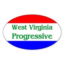 West Virginia Progressive Oval Decal