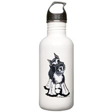 Playful Schnauzer Water Bottle