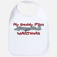 Daddy Flies Warthogs Bib