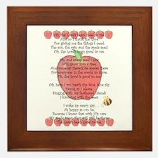 Johnny Appleseed Grace Framed Tile