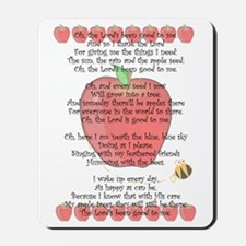 Johnny Appleseed Grace Mousepad
