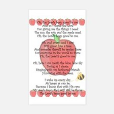 Johnny Appleseed Grace Sticker (Rectangle)