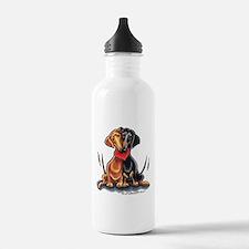 Smooth Dachshund Lover Sports Water Bottle