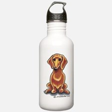 Smooth Red Dachshund Sports Water Bottle