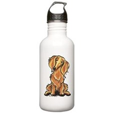 Longhair Dachshund Lover Sports Water Bottle