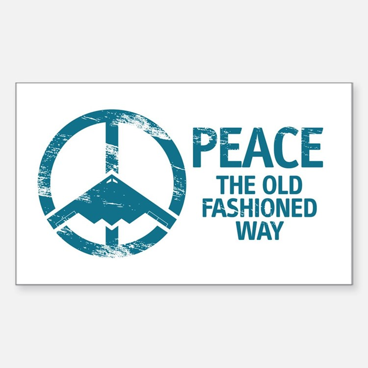 B-2 Bomber Peace Decal